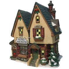 "Heartland Village 8"" Porcelain Village Building Fine Pewter Shop ($31.99 Ace Hardware)"