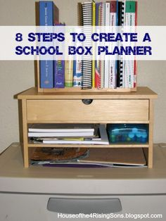 8 steps to organize your day with a school box planner (variation on workboxes)