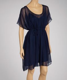 Take a look at this Deep Sea Elise Silk Dress on zulily today! tissuethin layer, silk dress, cloth, seas, silk chiffon, dresses, deep sea, string tie, sea elis
