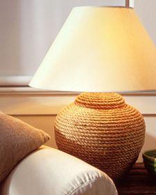 Pied de lampe avec de la corde / Rope lamp