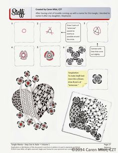 Steffi by Caren Milot, Certified Zentangle Teacher CZT