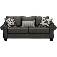 Colette Grey Sofa ($399) found on Polyvore