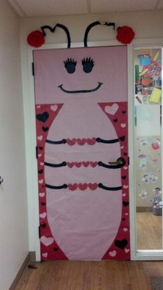 The Love Bug.... February classroom door