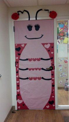 The Love Bug.... February classroom door