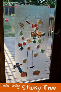 Toddler Tuesday: Sticky Tree Activity - Teaching Mama