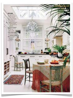 French Bohemian Kitchen.