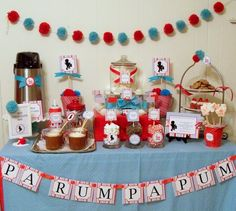 Christmas Dessert Table for a Little Drummer Boy party #christmas #desserttable
