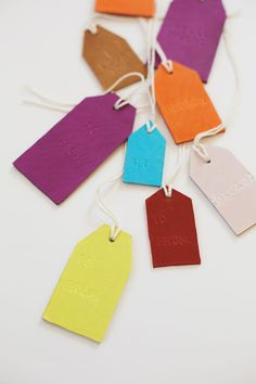 Scrap leather stamped tags