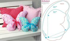 DIY Butterfly Pillows Template
