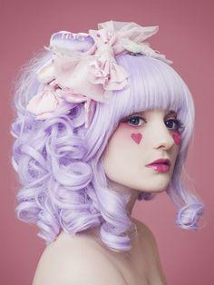pastelbat: Photographer: Tony Ottosson Styling: Me Pastelbat pastels, purple hair, hair colors, alice in wonderland, beauti, alternative hair, lilac hair, pastel hair, pastel goth