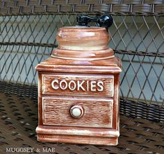 McCoy Coffee Grinder Cookie Jar circa 1960 by muggseyandmae, $40.00