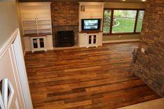 Semi Surfaced Barn Board Flooring