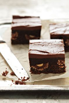 Nutella Brownies via My Baking Addiction #nutella #recipe