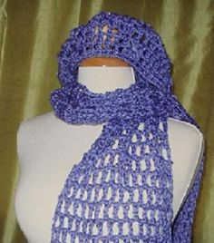 Beanie and Scarf Crochet Set by IsabellesAttic on Etsy, $30.00