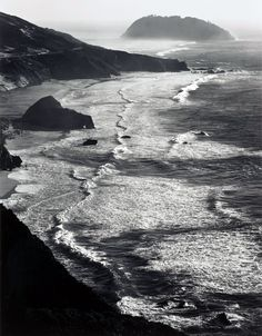 storm, Point Sur, Monterey coast CA    photo by Ansel Adams, 1942