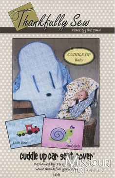 Cuddle Up Car Seat Cover Pattern from Missouri Star Quilt Co