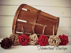 Christmas Ornaments Rustic Christmas by HomesteadBurlaps on Etsy, $24.00