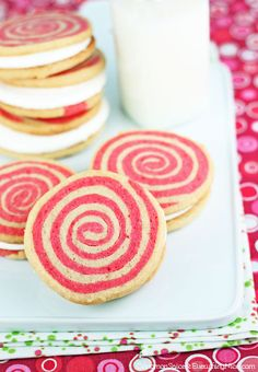 Peppermint Pinwheel Cookie Pies