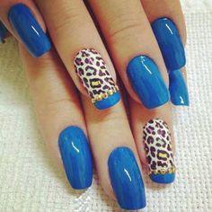 U as azules - Unas azules decoradas ...