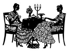 Sisters Tea Time Silhouette