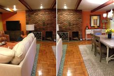 dine space, living spaces, craft idea, hous remodel, dining spaces, shaw rug, design idea