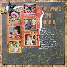 Alayna's Second Rodeo - Scrapbook.com - For a themed birthday party, find themed scrapbooking products to match. Get creative! Wood grain and burlap are perfect for western themed parties.