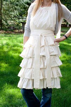 SO cute. i love the peasant farm style clothing.  I adore these ruffles