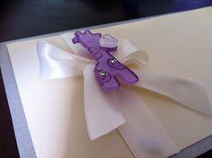 Giraffe Embellishment invitation, Gaia Creative Shop
