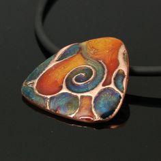 Ninomiya Leaded Enamels on Art Clay Copper