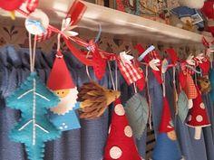 idea, christmas crafts, felt, holiday garland, gnome, garland tutori, holidays, garlands, christma craft