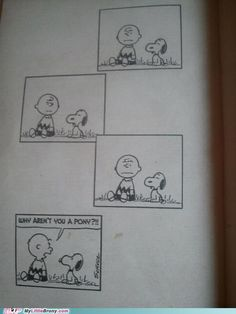 Charlie Brown was a brony