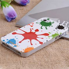 Apple iPhone 4 / 4S Hard Sided Colorful Graffiti Painting Case