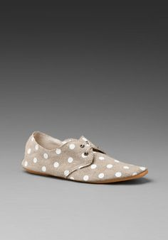 ShopStyle: Anniel Derby Soft Shoe Polka Dot Linen