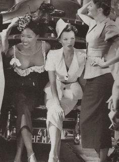 Kate Moss, Naomi Campbell, Helena Christensen at John Galliano