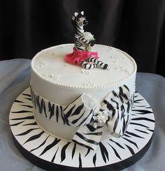 """Торт для девочек """"Зебра"""""""