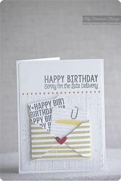 Happy Birthday Background, Spotlight Sentiments, Wood Plank Background, You've Got Mail stamp set and Die-namics - Keisha Campbell #mftstamps