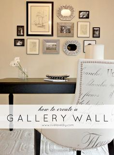 Great tips for how to create a gallery wall!