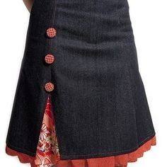 Under skirt beneath the Chickadee faux wrap skirt sew, pattern, cloth, dress, jean skirts, peekaboo skirt, buttons, pencil skirts, denim skirts