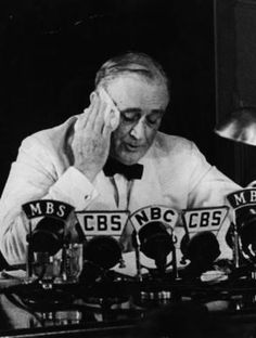 FDR giving an interview at the beginning of the war in the Pacific.