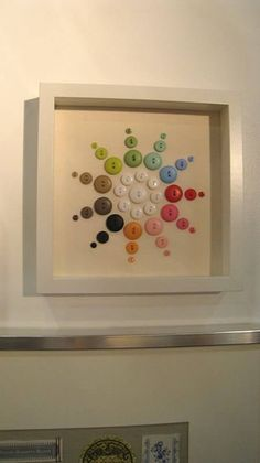 ⊙ Cute as a Button ⊙  artful button crafts and diy inspiration - framed button spiral