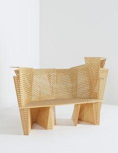 Steven Holl: Unique prototype, bamboo 'Porosity Bench',2008.