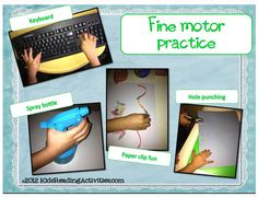Center ideas for fine motor skills! Repinned by  SOS Inc. Resources.  Follow all our boards at http://pinterest.com/sostherapy  for therapy resources.