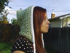 Crochet Pixie Hood green by DarleneMoon on Etsy, $25.00