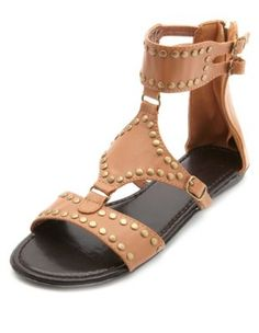 Studded Ankle Cuff Gladiator Sandals