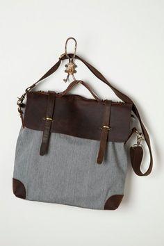 Woodland satchel in stripes.