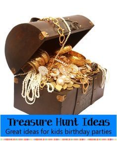 Treasure Hunt Games - How to set up and play a Treasure Hunt for a birthday party.  Variations, tips and help to make it run smooth and easy!