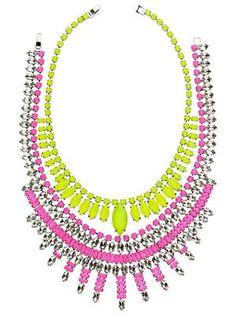 Make a Neon Statement- Ann Taylor necklaces