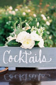 A sweetly rustic cocktail bar sign (Photo by Steve Steinhardt)
