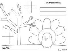 Free printable Thanksgiving kids placemat!