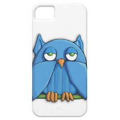 Cute Aqua Blue Owl iPhone 5 Case